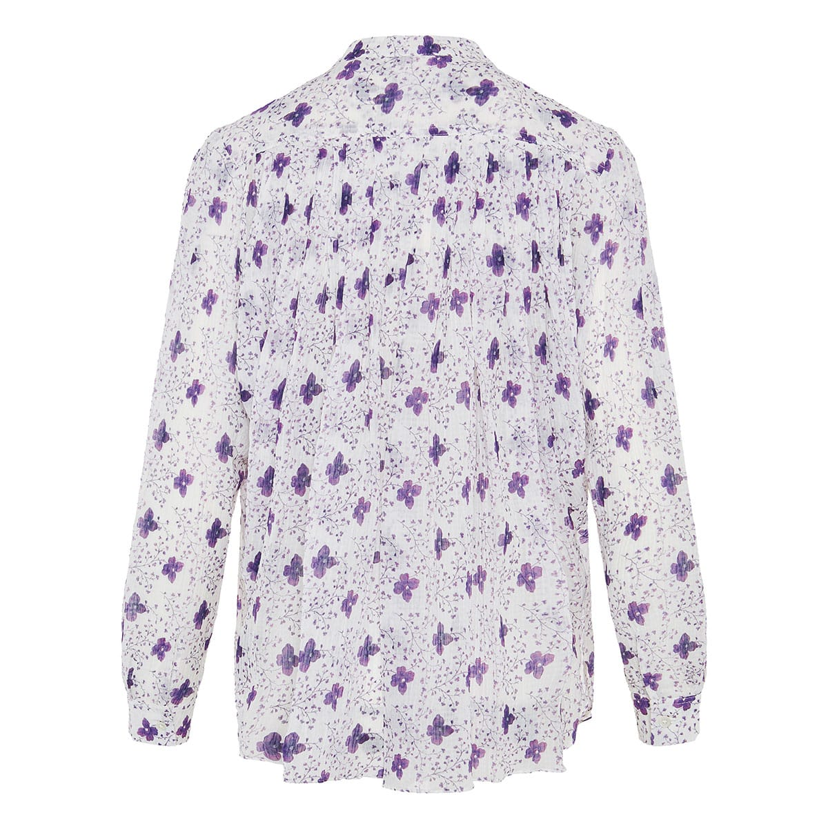 Euilali gathered floral shirt
