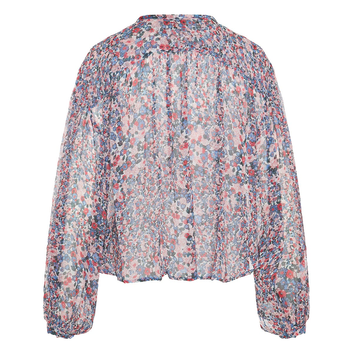 Orionea floral gathered blouse