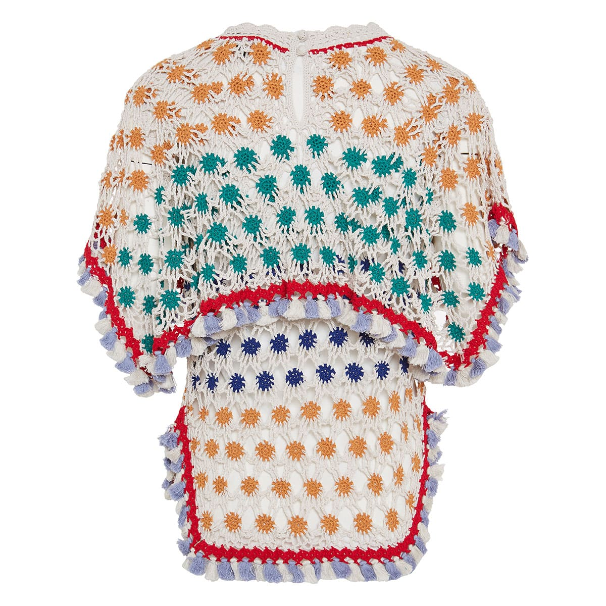 Crochet-knitted blouse