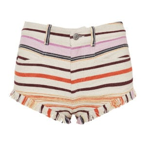 Striped mini shorts