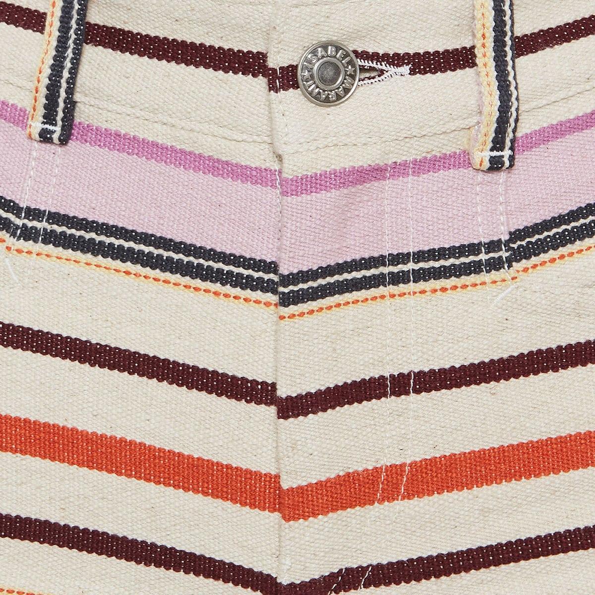 Striped mini shorts
