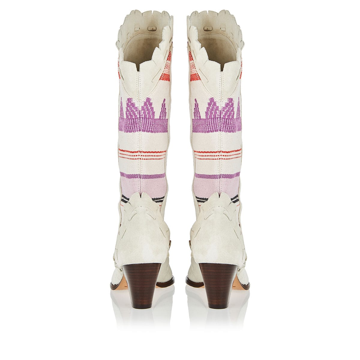 Leesta embroidered suede boots