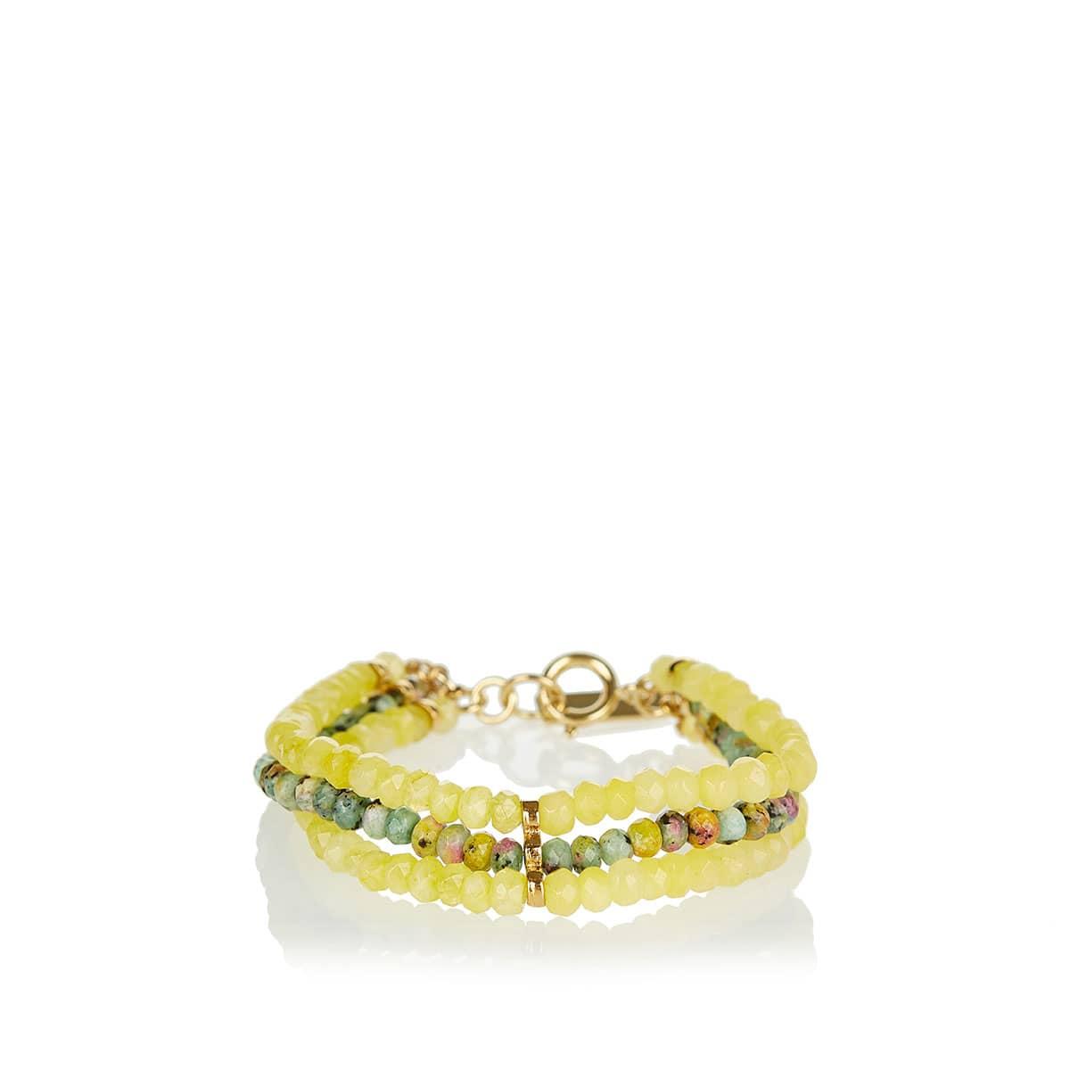 Stone-beaded bracelet