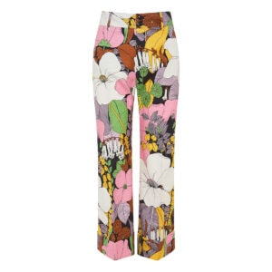Hendrix floral cropped flared trousers