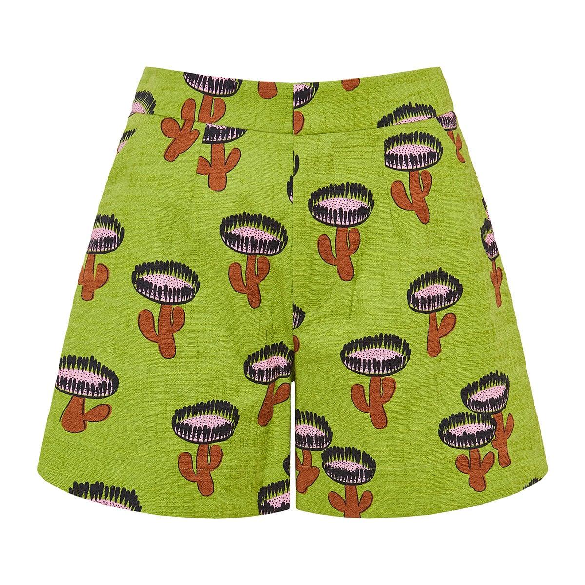 Good Butt wide-leg printed shorts