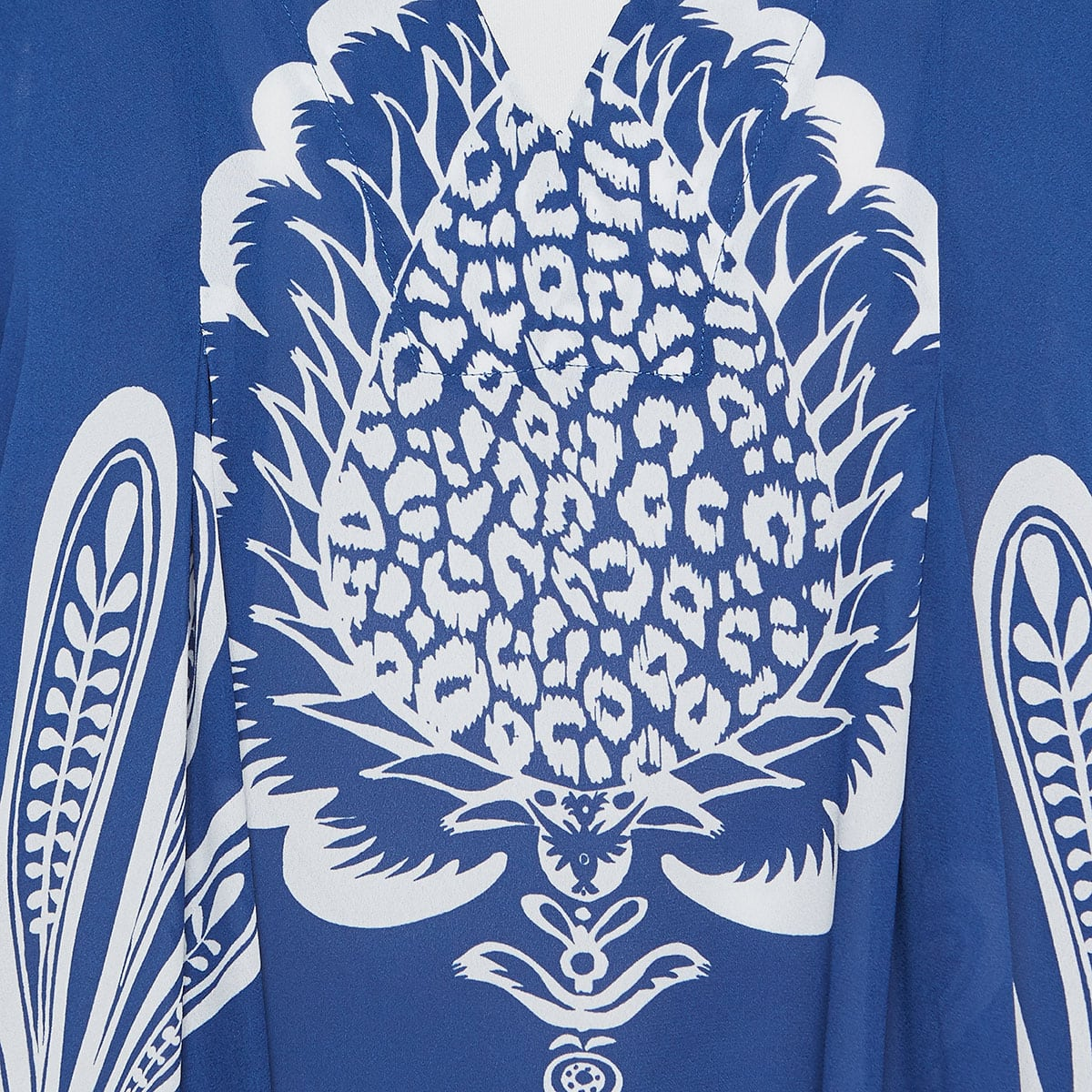 V Trapezio printed midi dress
