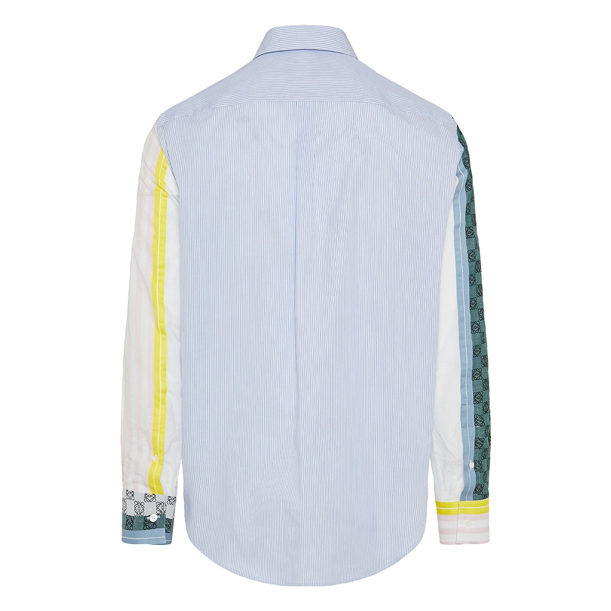 Anagram embroidered striped shirt