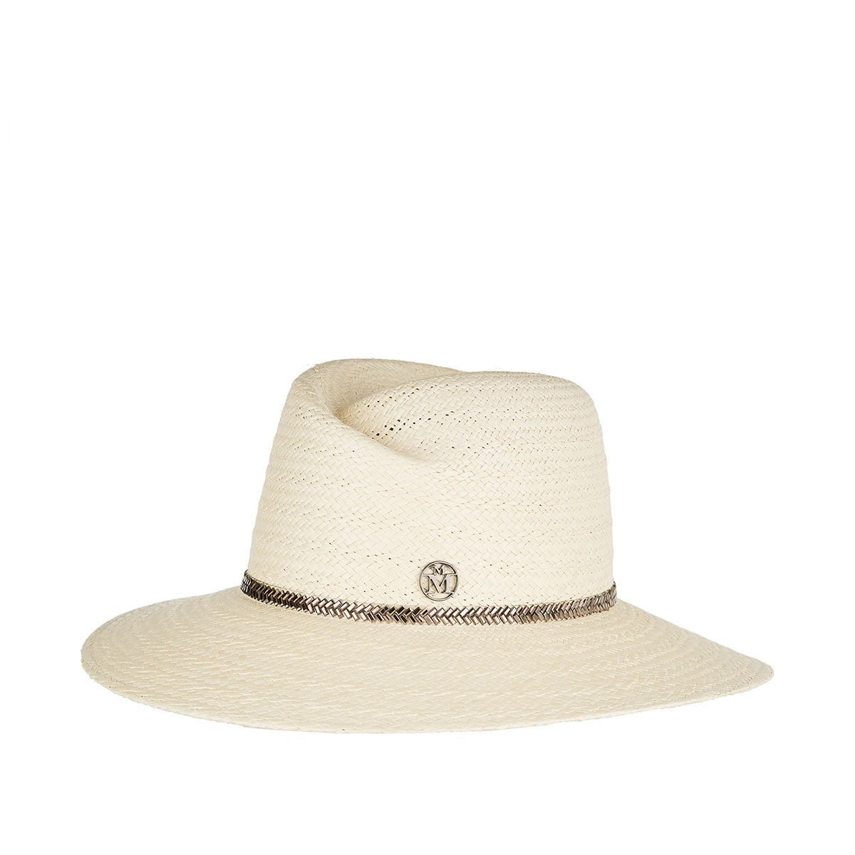 Virginie embellished straw fedora hat
