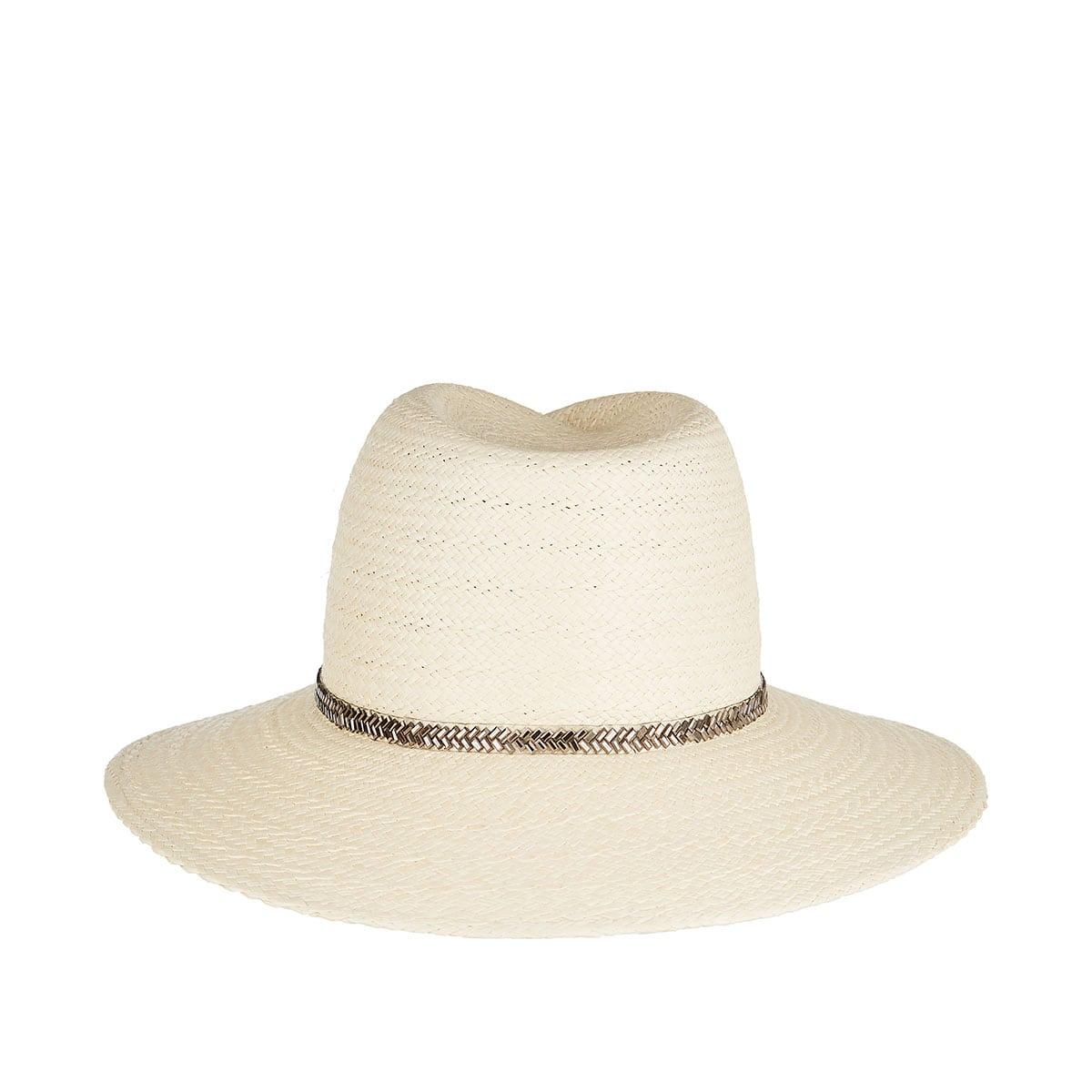 Virginie embellished straw fedora hat