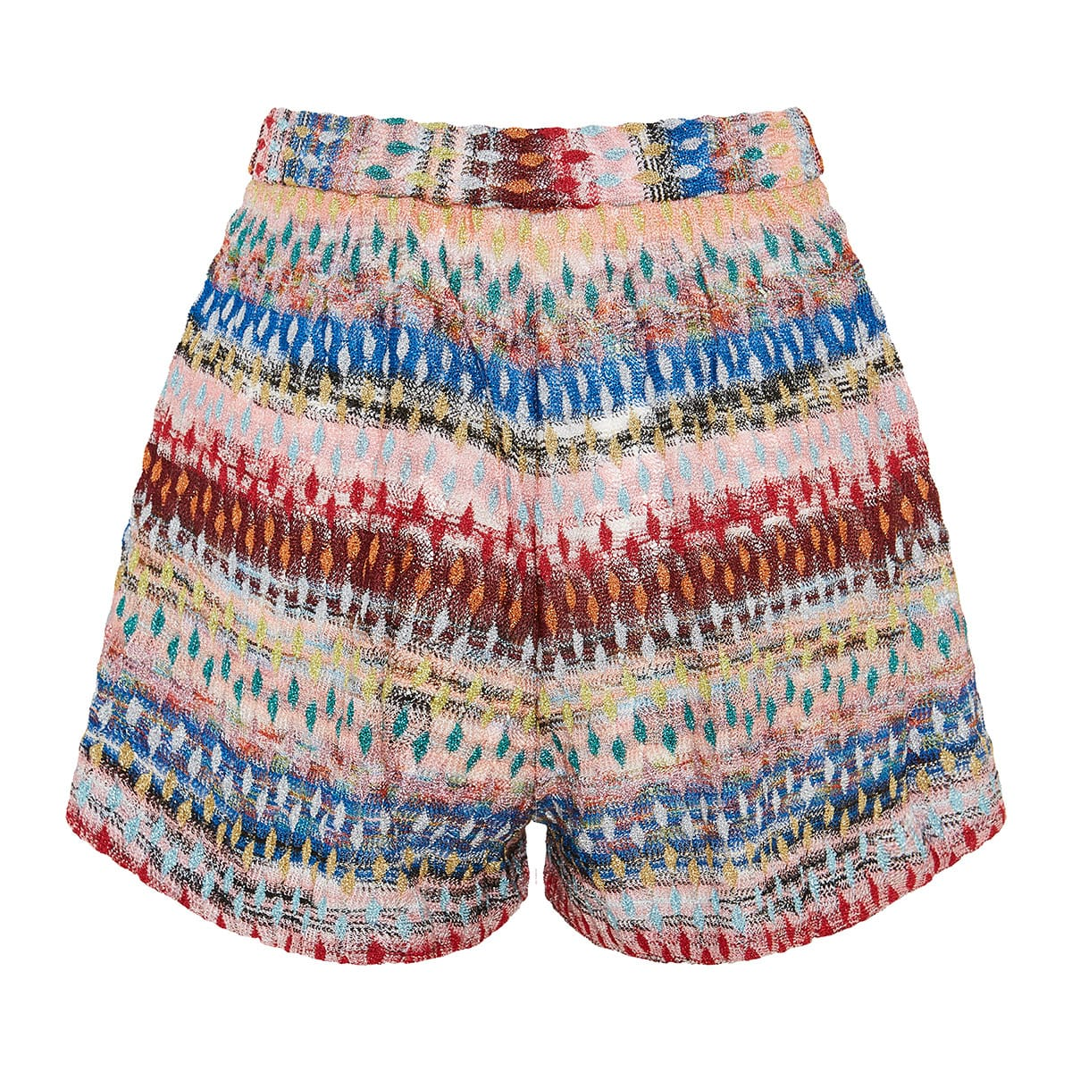 Abstract-print knitted shorts
