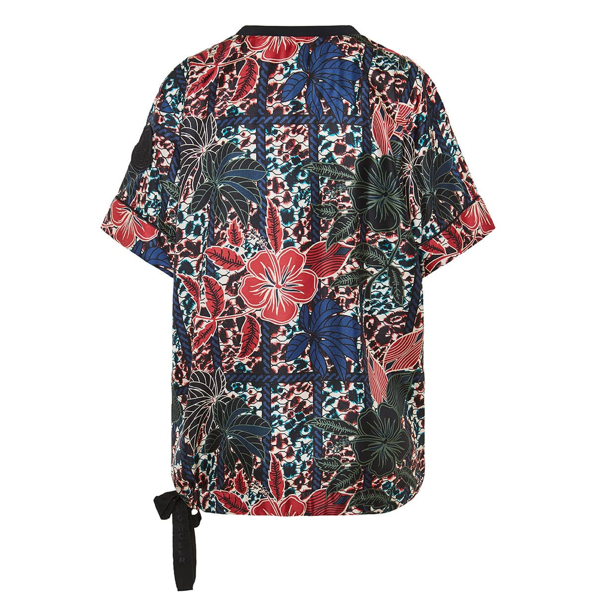 Oversized floral silk t-shirt