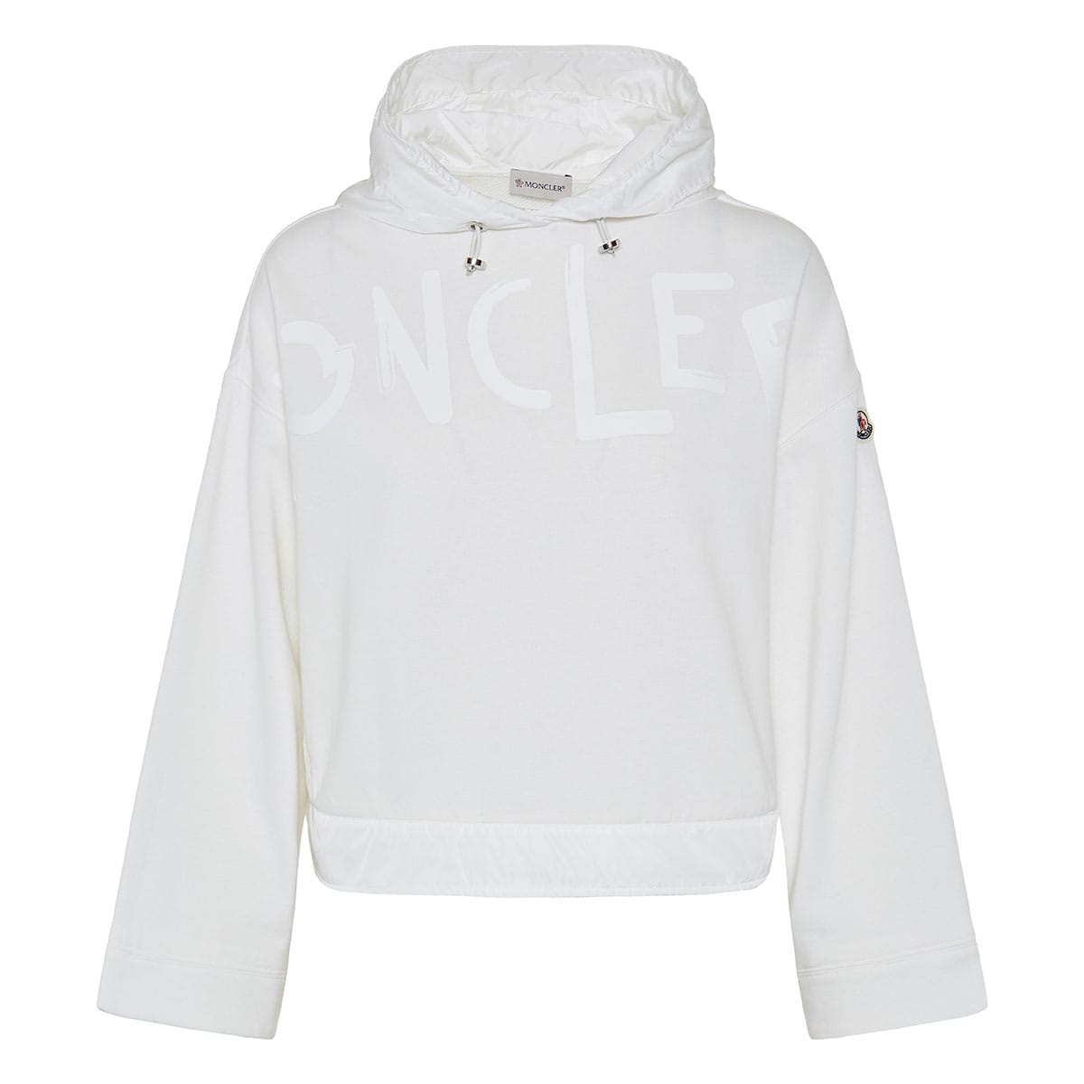 Nylon-trimmed logo hoodie