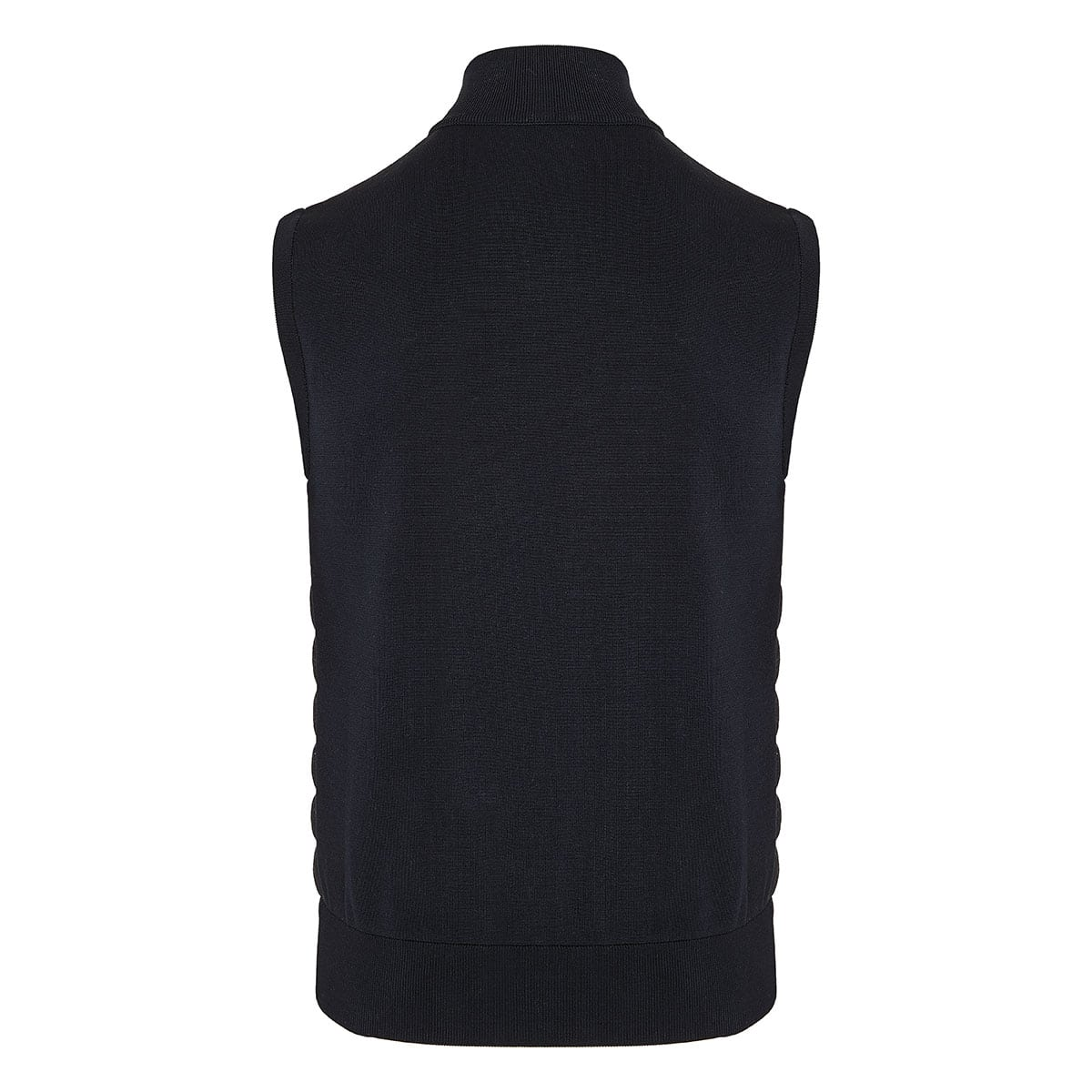 Down-quilted panel vest