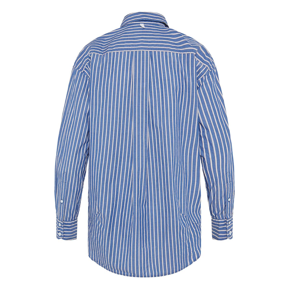 Alina oversized striped poplin shirt