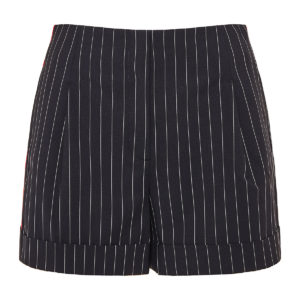 Jess pinstripe shorts with side bands