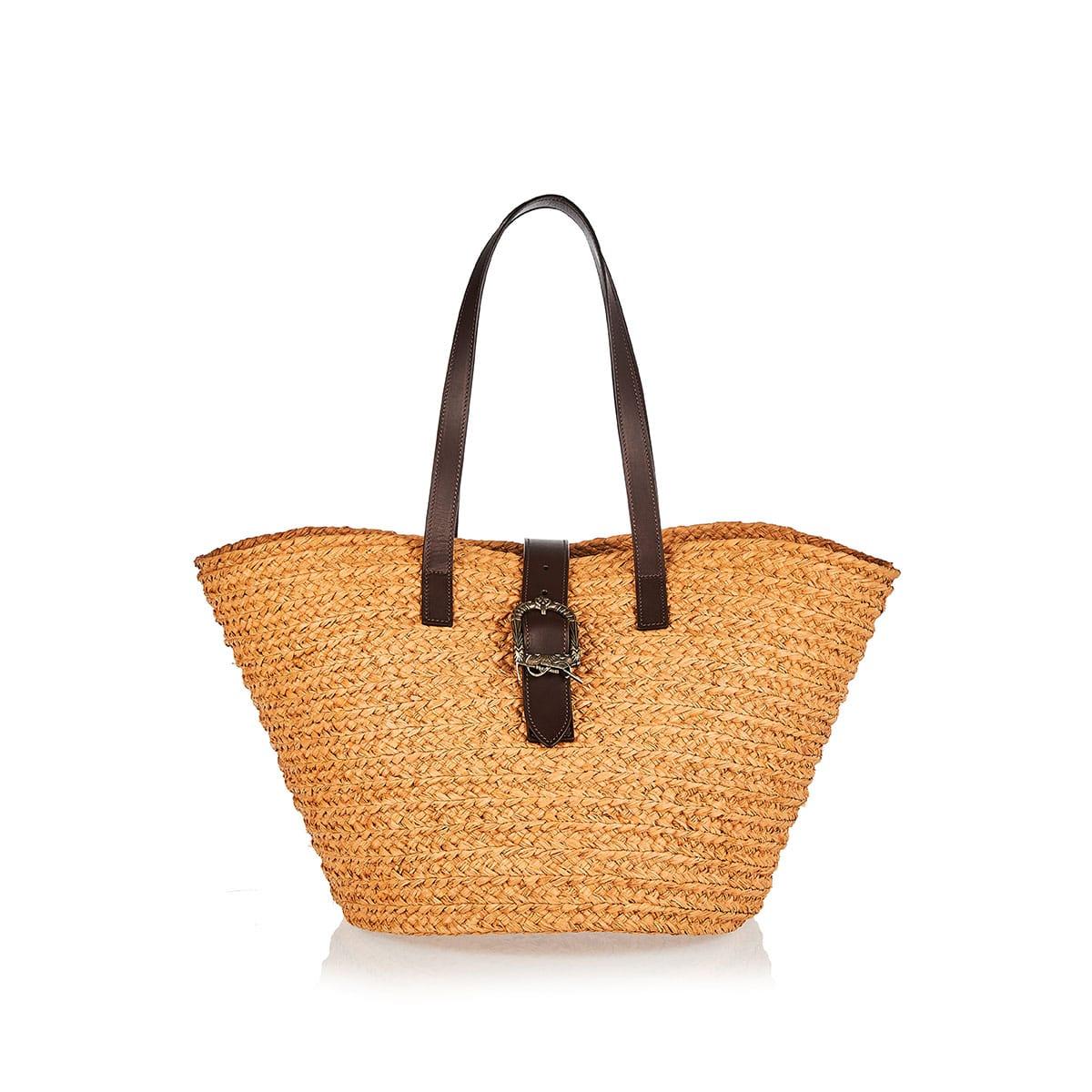 Panier medium raffia basket bag