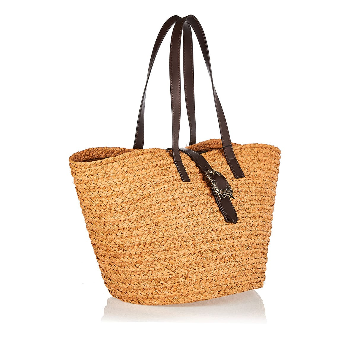 Panier medium raffia basket bag