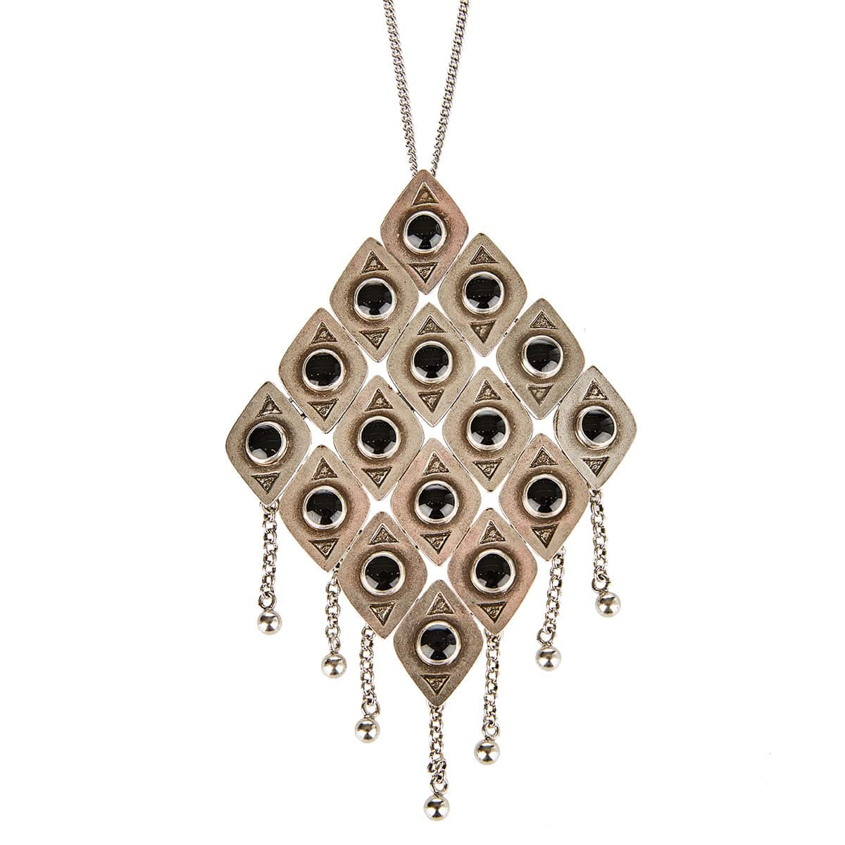 Marrakech checkered pendant necklace