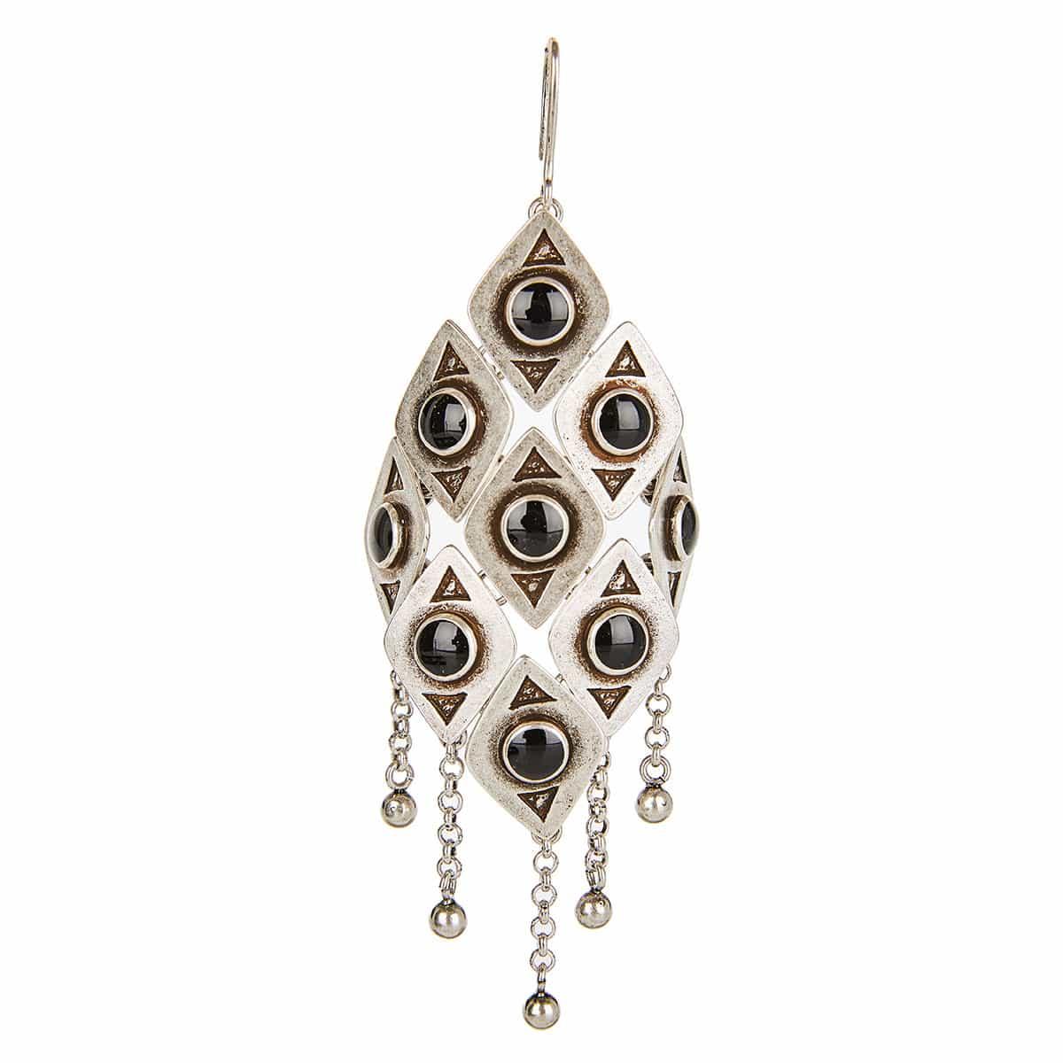 Marrakech checkered drop earrings