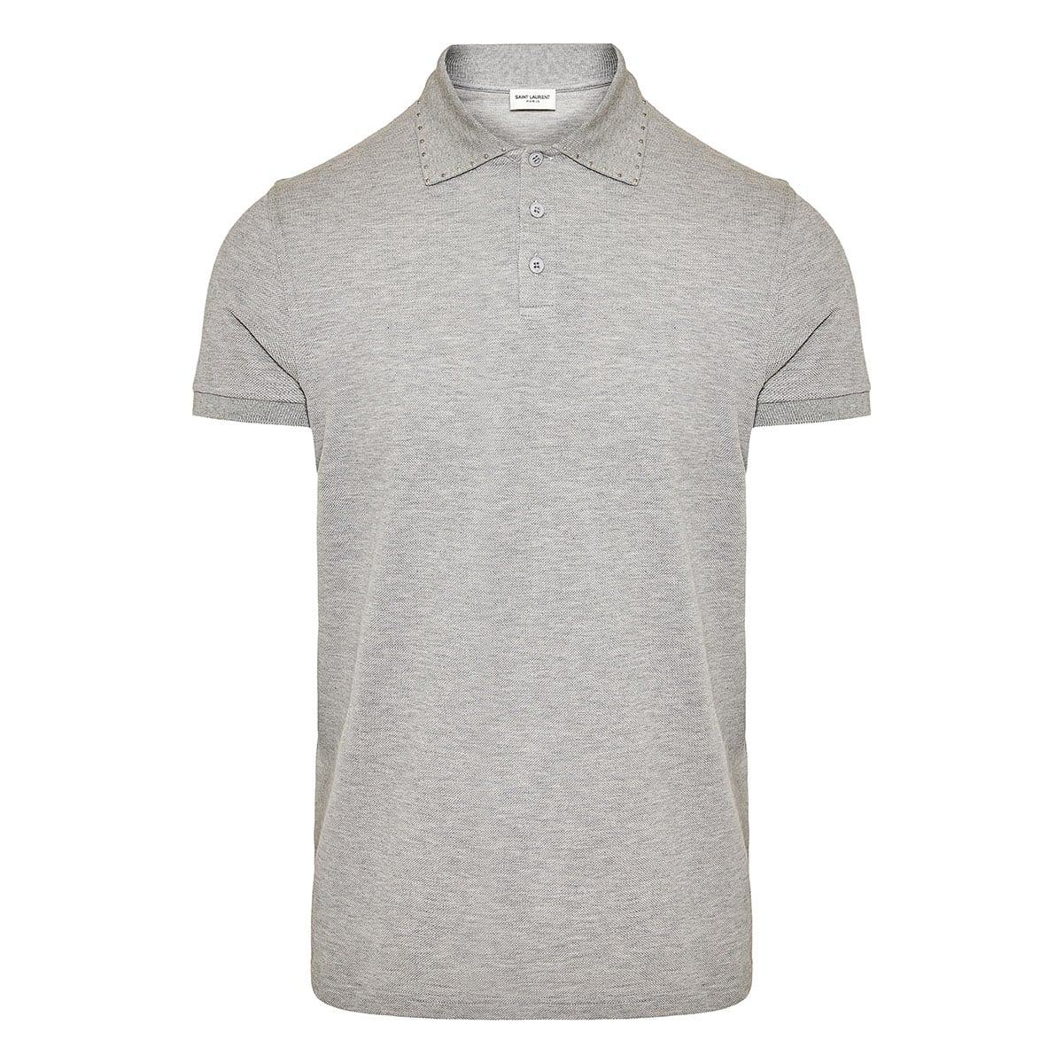 Stud-detailed polo shirt