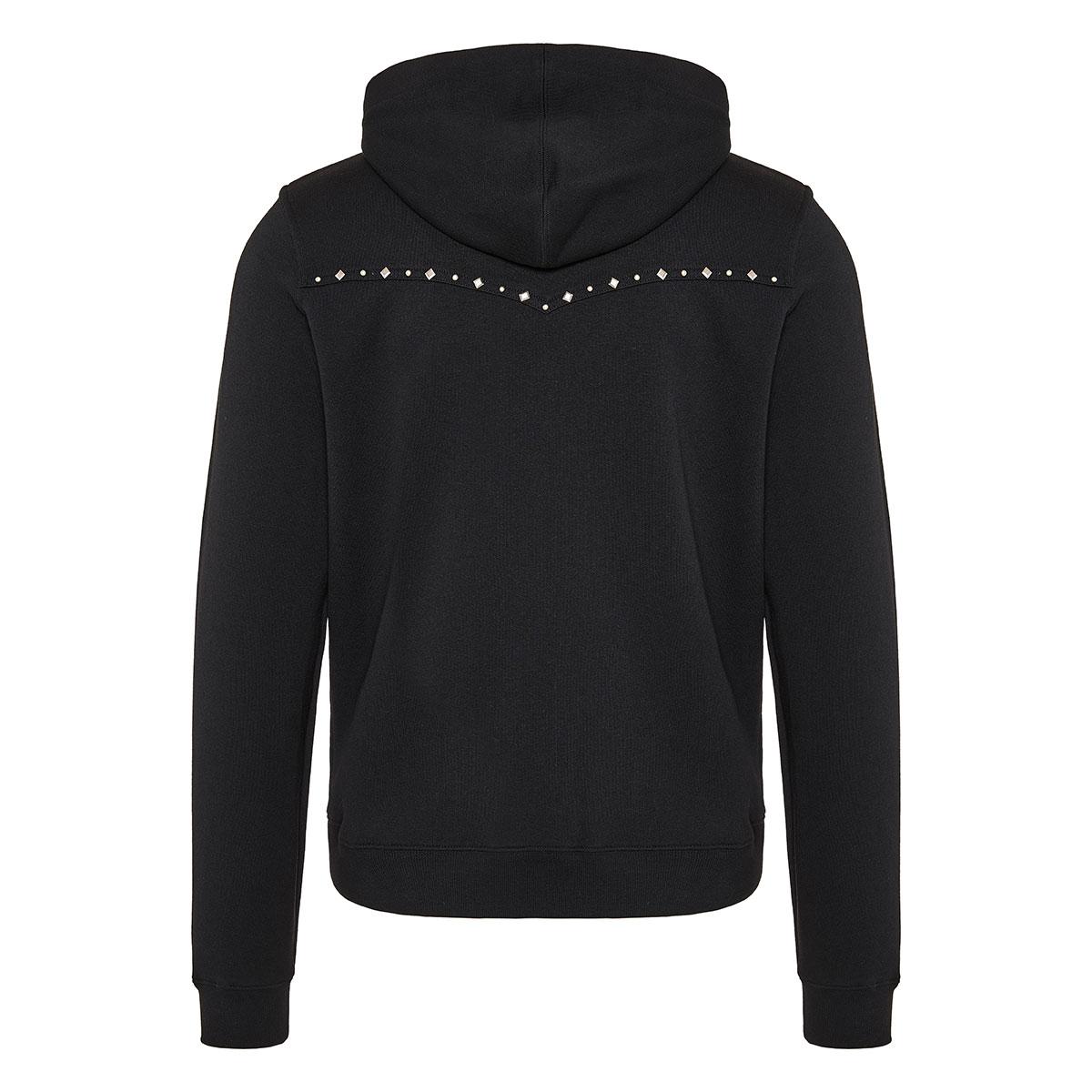 Studded zipper hoodie