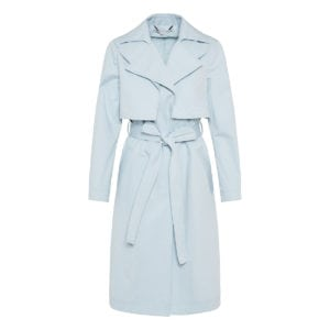 Logo-detailed cotton trench coat