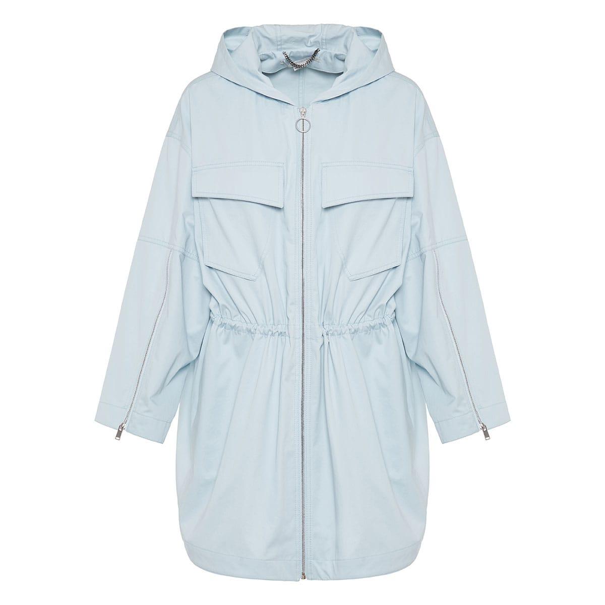 Hooded cotton parka jacket