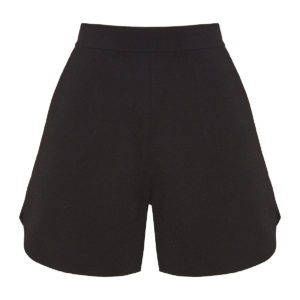 Flared knitted shorts