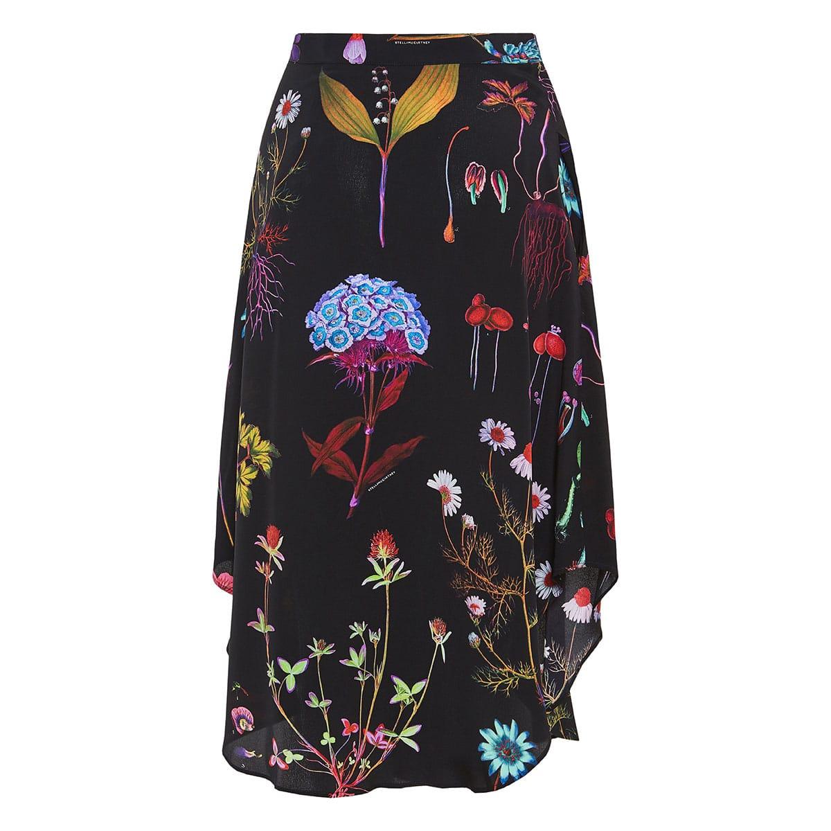 Jacey floral midi skirt