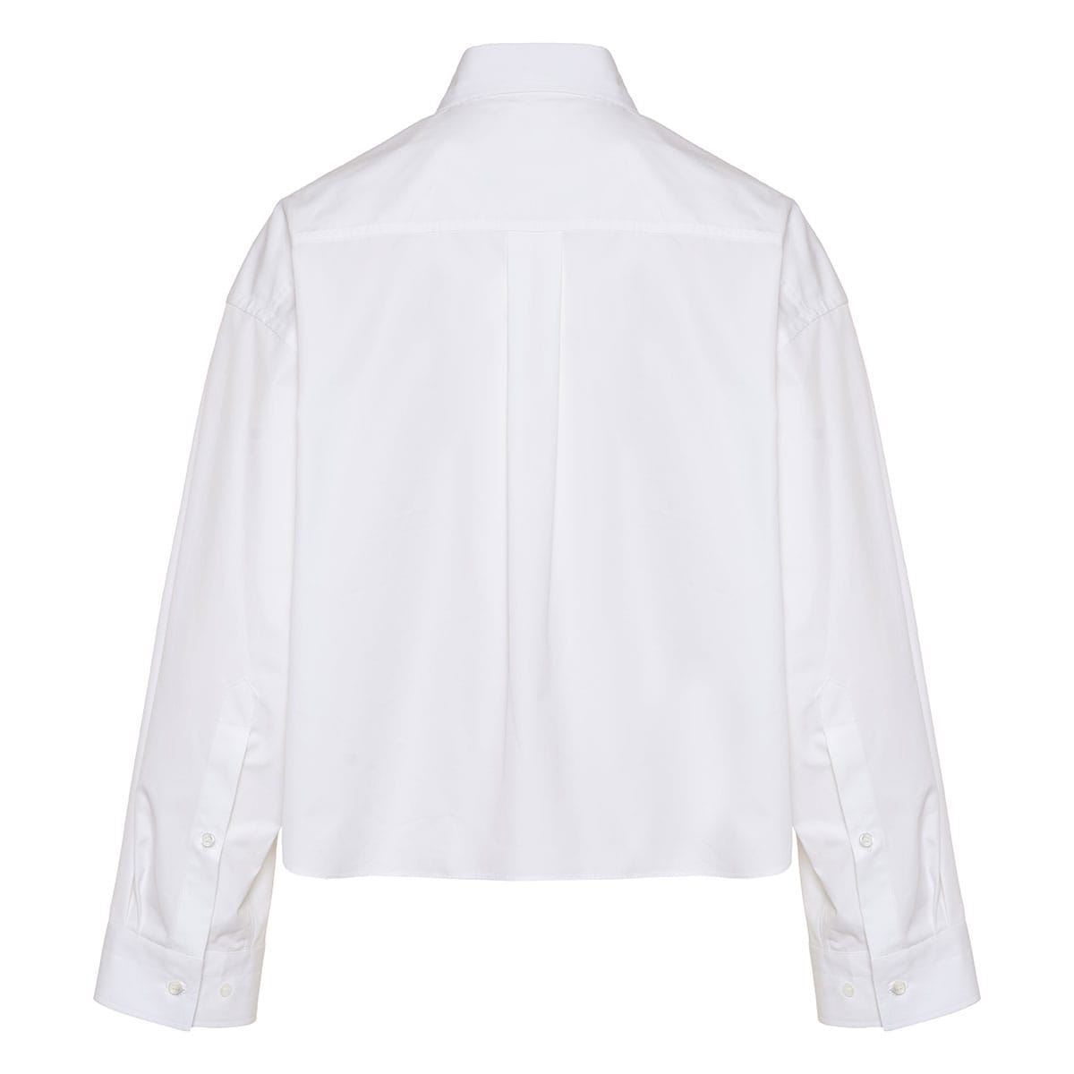 Oversized cropped poplin shirt