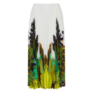 Mirrored Monkeys Forest pleated midi skirt