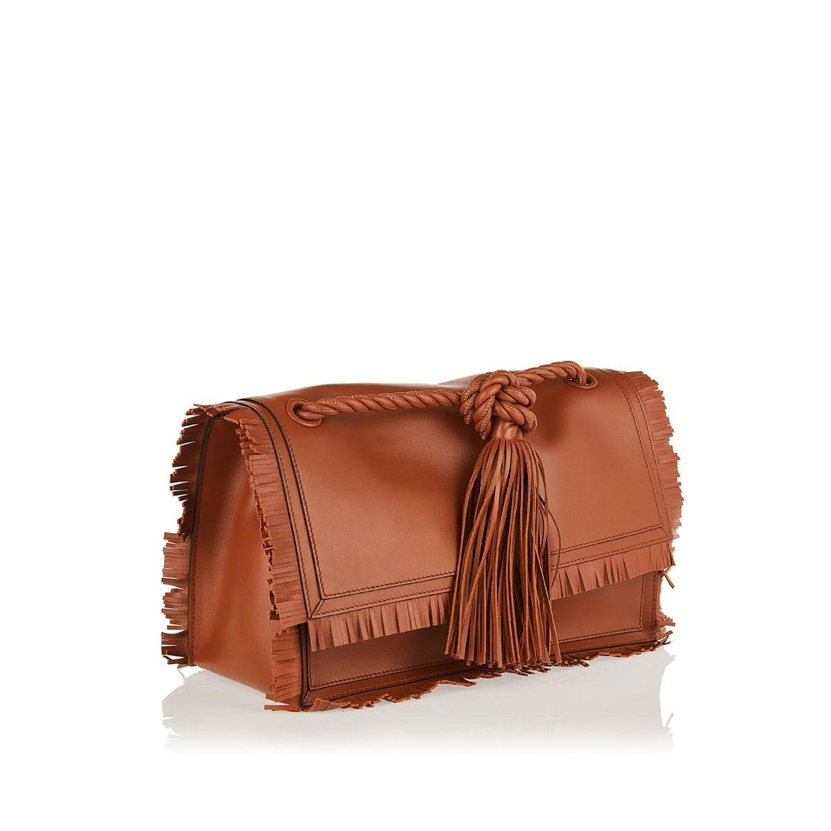 The Rope fringe-trimmed leather bag