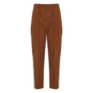 Side-stripe cropped trousers