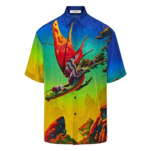 Dragon at Dawn oversized printed shirt