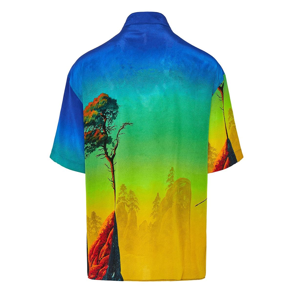 Dragon at Dawn oversized printed shirt