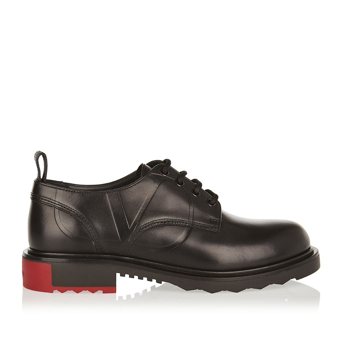 Vlogo leather derby shoes