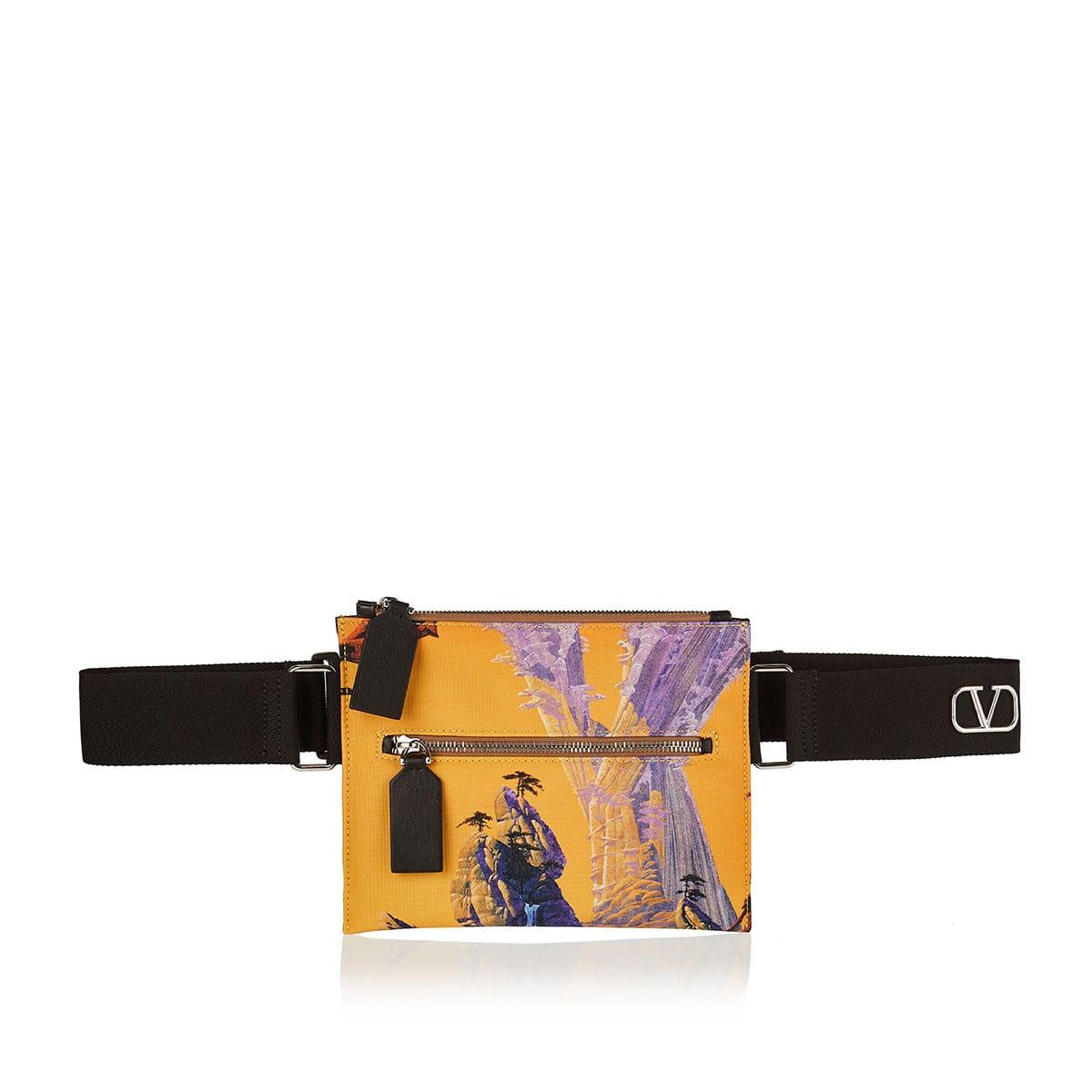 Yellow City printed crossbody bag