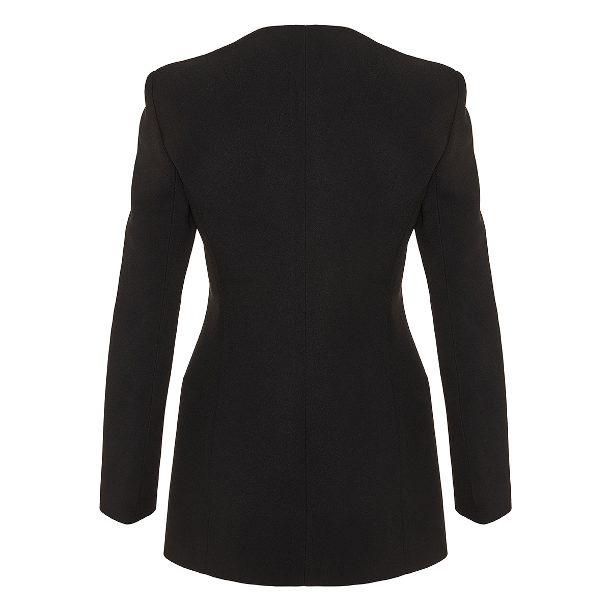 Heritage-neck single-breasted blazer