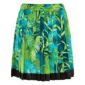 Jungle print pleated mini skirt