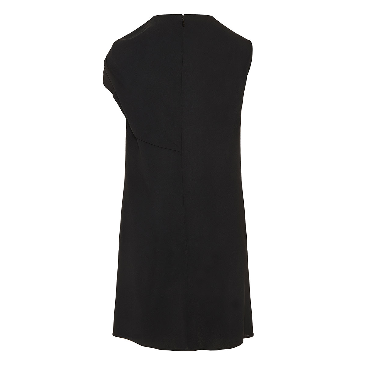 Asymmetric draped mini dress