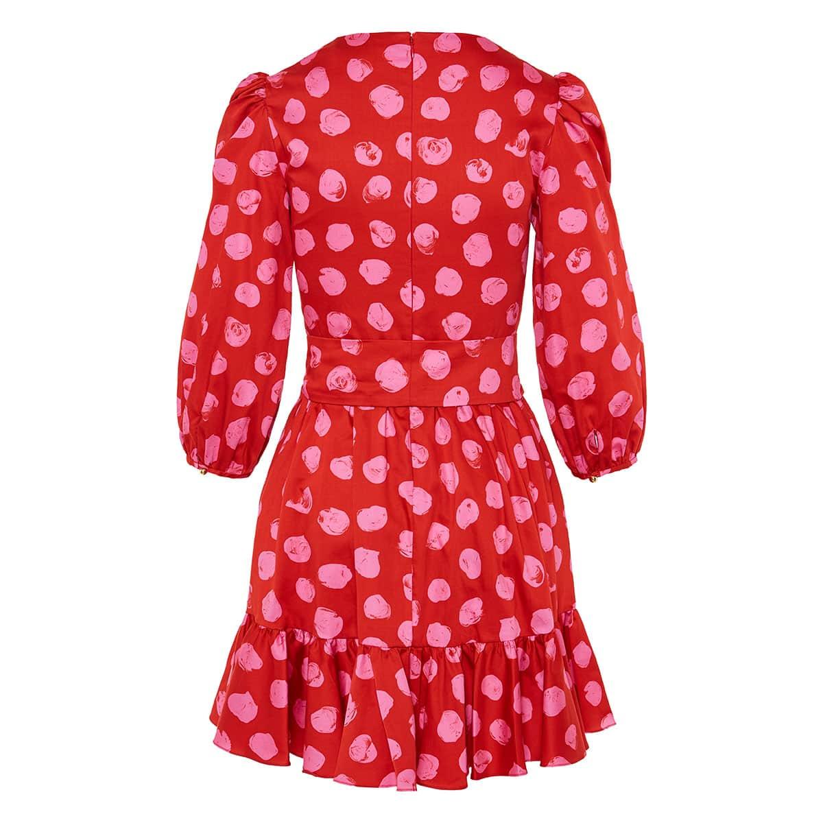 Anita polka-dot poplin mini dress