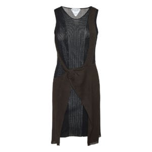 Double-layered deconstructed knitted dress