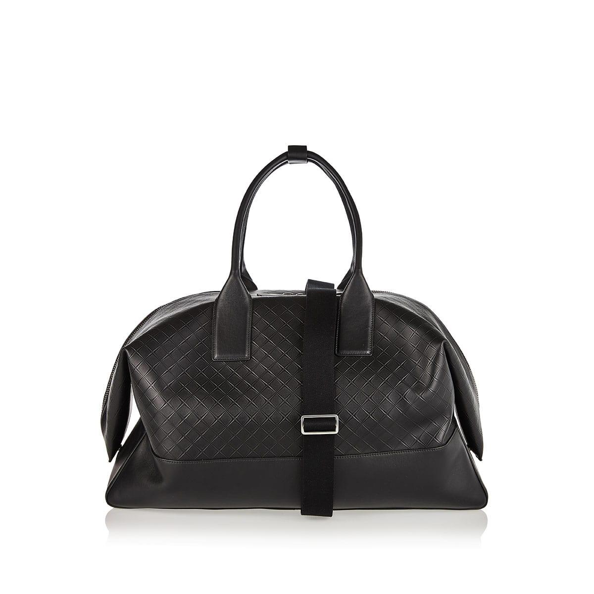 Embossed-leather weekend bag