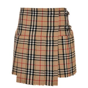 Vintage Check mini kilt skirt