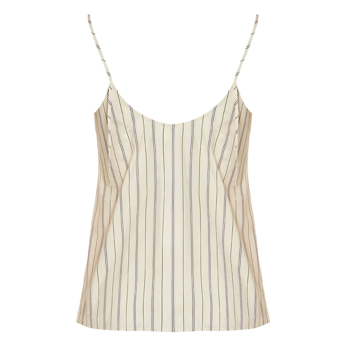 Striped cotton slip top