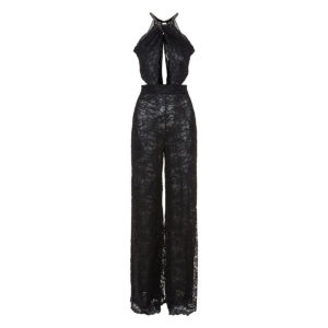 Cutout lace jumpsuit