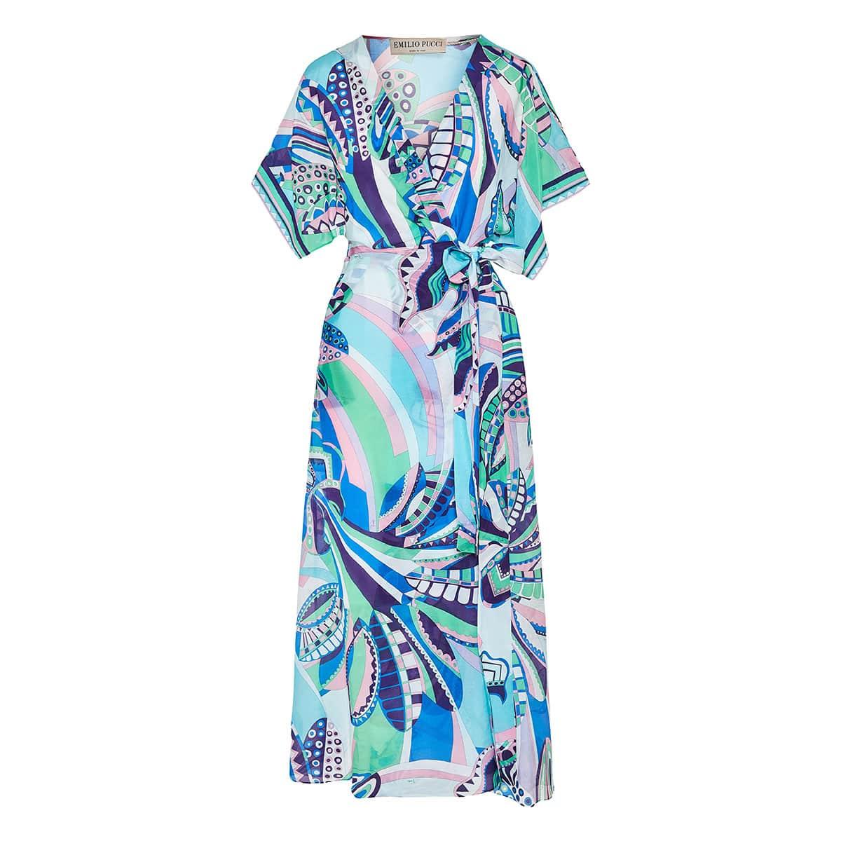Corisco print robe dress