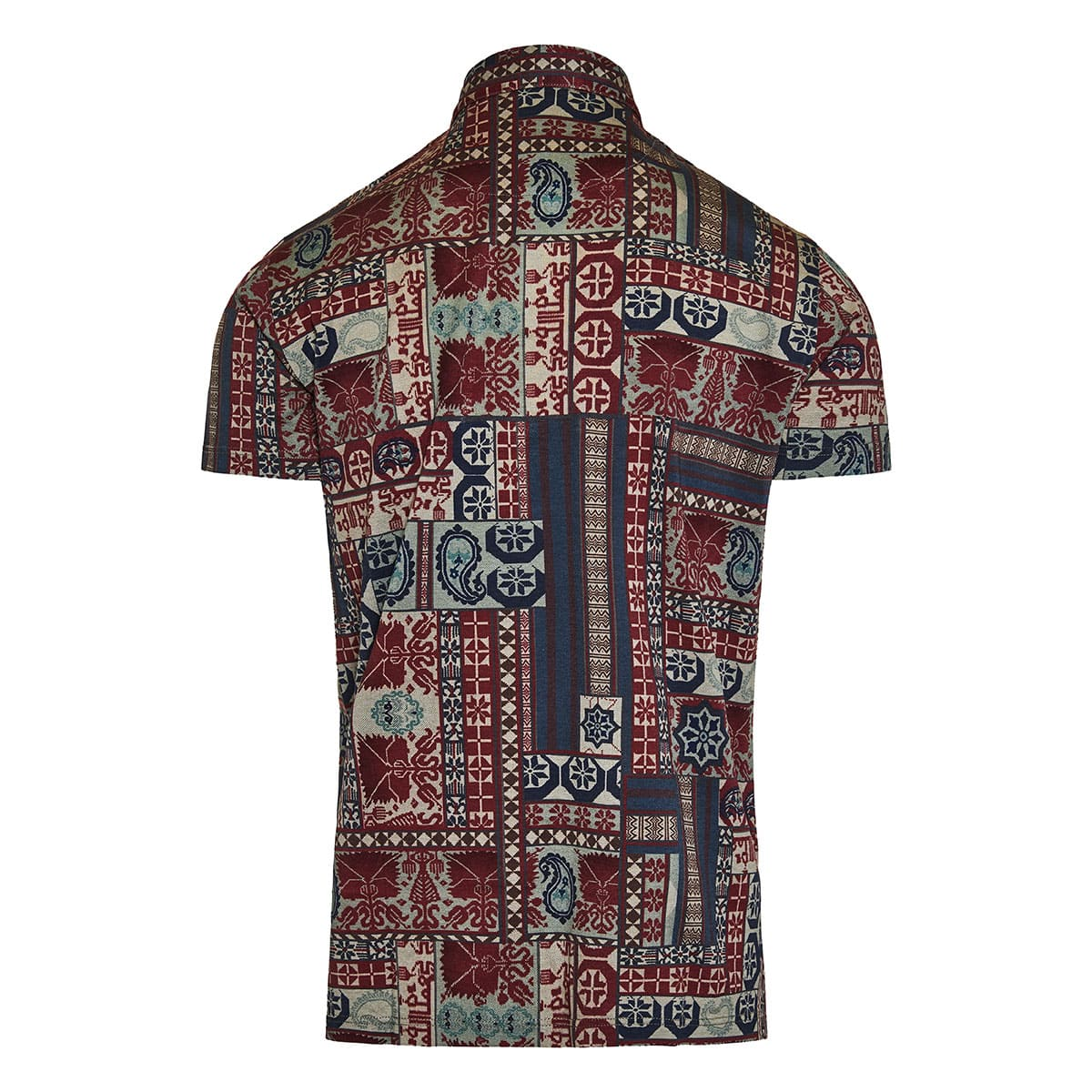 Patchwork print polo shirt