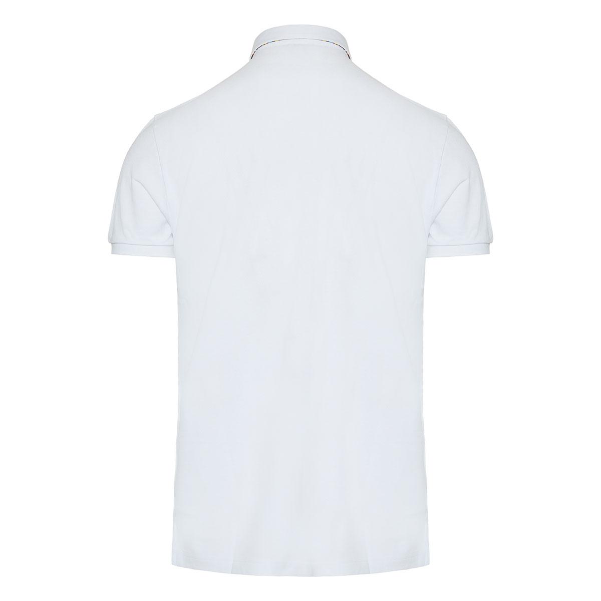 Paisley collar polo shirt