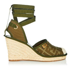 FF canvas espadrille wedges